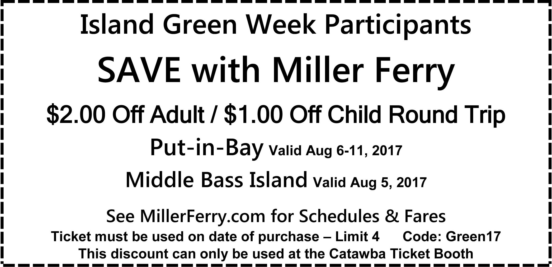 Island Green Week Coupon